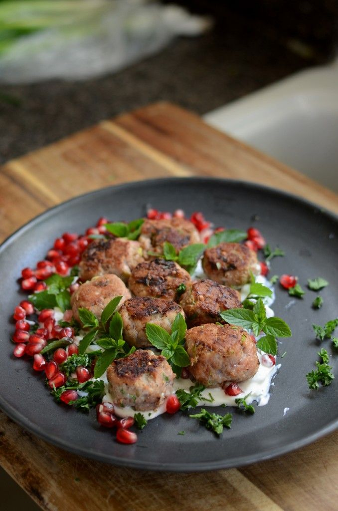 Spiced Meatballs with Pomegranate Yogurt Sauce: We just recently ...