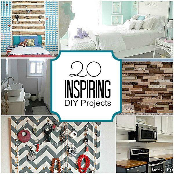 20 Super Inspiring DIY Projects!! -- Tatertots and Jello #DIY