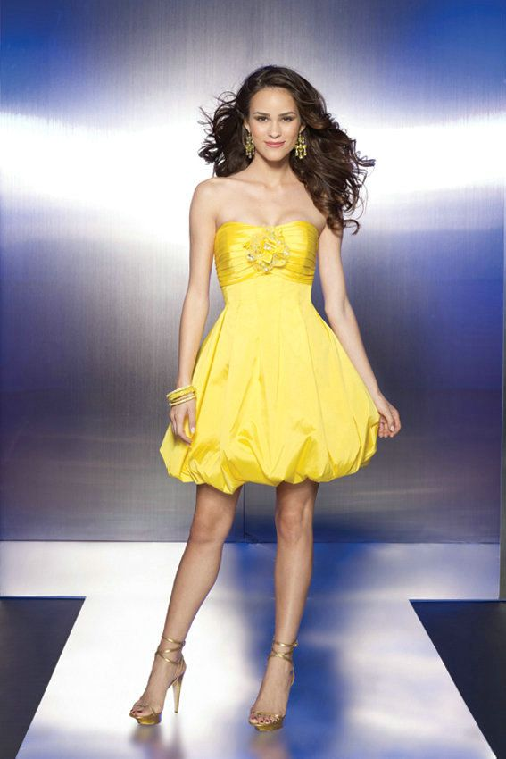 Yellow Cocktail Dresses For Sale 71