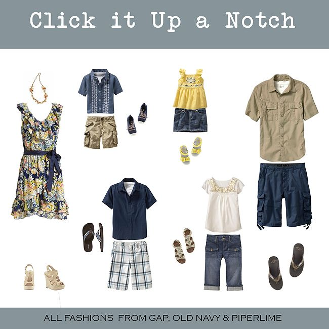 Family picture clothing idea's - navy and yellow