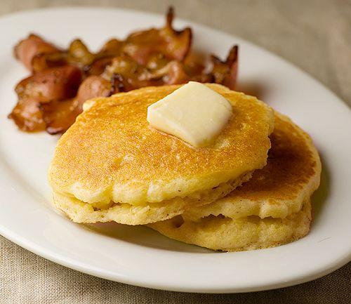 Buttermilk Cornmeal Pancakes   Recipe
