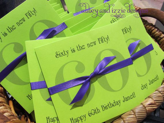 Party Favors - 60th Birthday - Adult Party Favors -60th Birthday Party ...