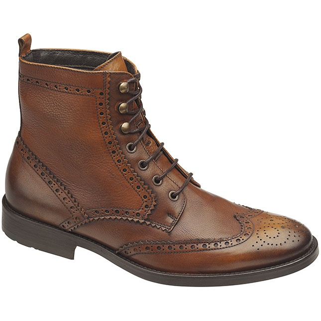 Haddington Wing Tip Boot in Cognac $194.95 at ShoeMill.com #J #boot