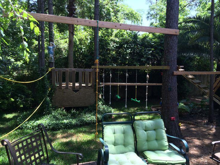 Backyard Ninja Warrior Design : Kids backyard American ninja warrior course that my hubby made