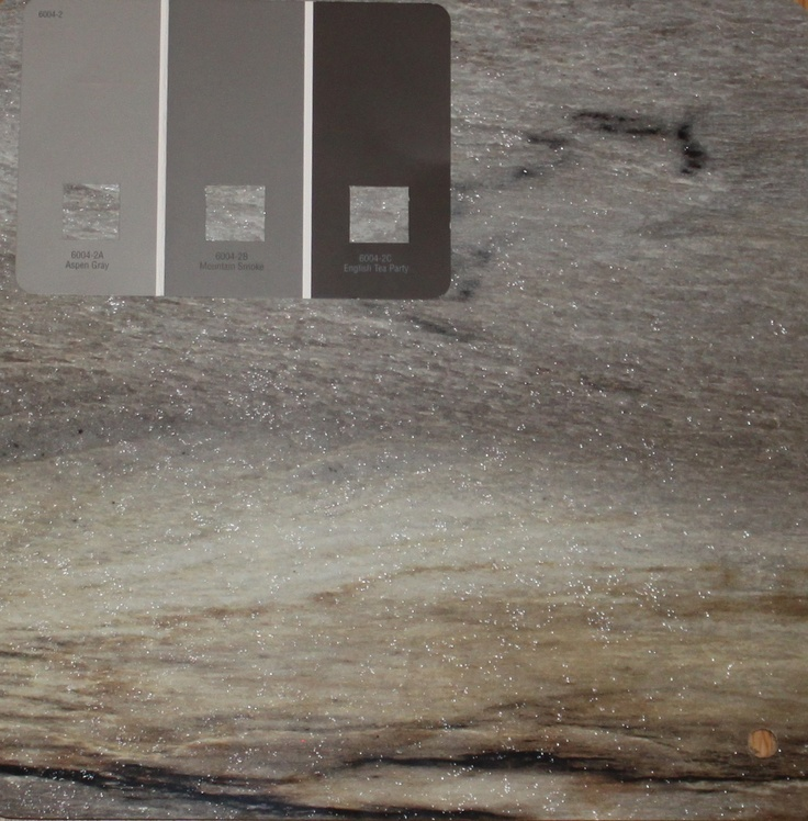 Formica 180fx Dolce Vita countertop and Valspar Aspen Gray paint for ...