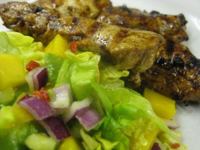 Caribbean Jerk Chicken with Mango Salsa   Get in my belly   Pinterest