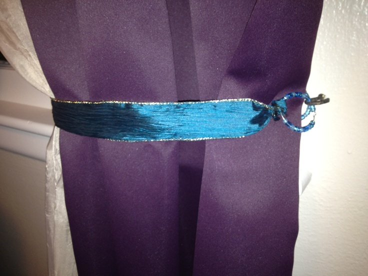 curtain tie backs | My Pinspired Projects | Pinterest