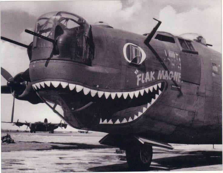 """B 24 Liberator Nose Art """"Flak Magnet&quot..."""