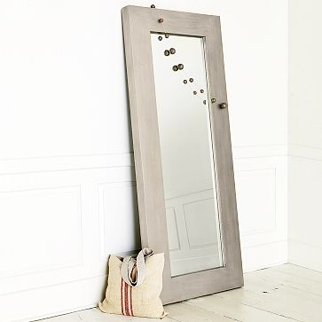 This is exactly the kind of mirror I have been looking for!  I love the Chunky Wood Floor Mirror on westelm.com