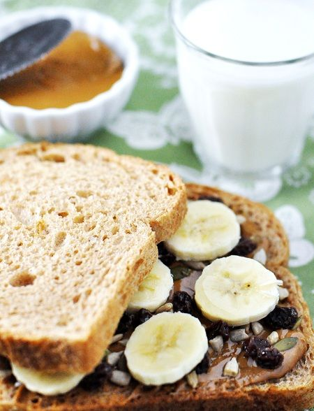 Banana,Nutbutter, Seeds & Honey Sandwich | Lunch Bunch | Pinterest
