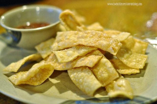 Wonton Chips at Khans Mongolian BBQ ~ Roseville, MN by Kristi @ TCRB ...