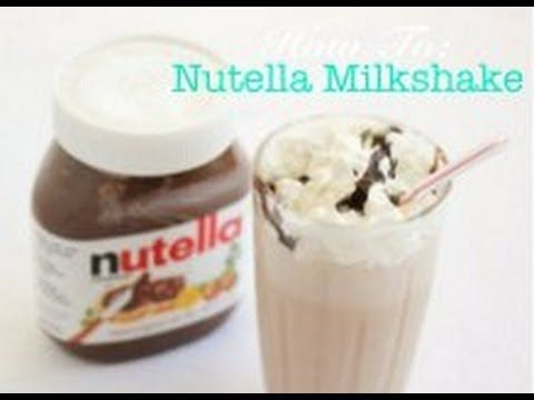 Super Easy Nutella Milkshake