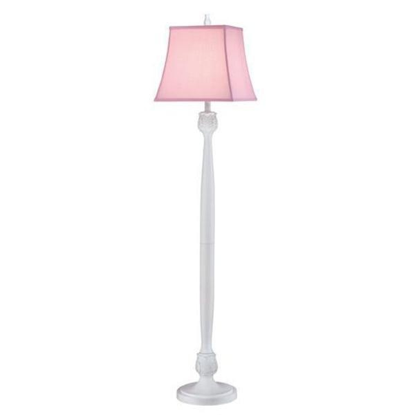 Madelyn39s room pink floor lamp lamps pinterest for Pink floor reading lamp