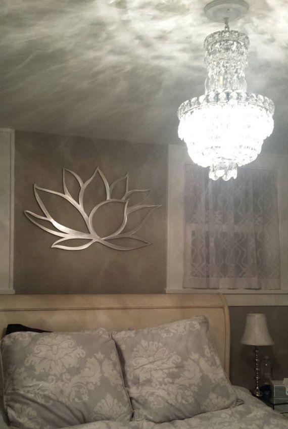 Wall Art Lotus Flower : Lotus flower metal wall art home decor