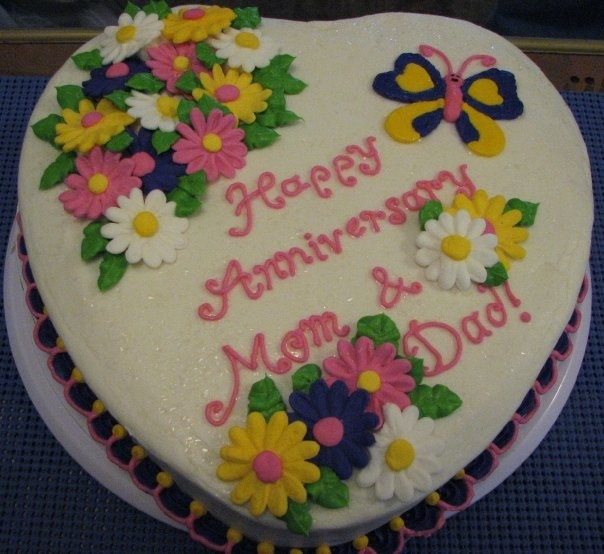 Anniversary Cake Pic For Mom Dad : Mom and Dad s anniversary cake Mama Mia s Cakes Pinterest
