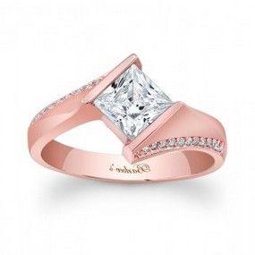 Princess Cut Rose Gold Engagement Rings