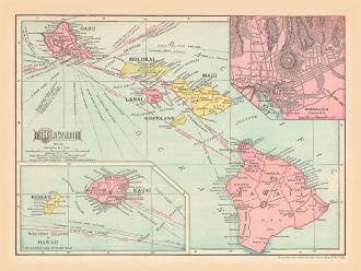 A Hawaii map for the living room...