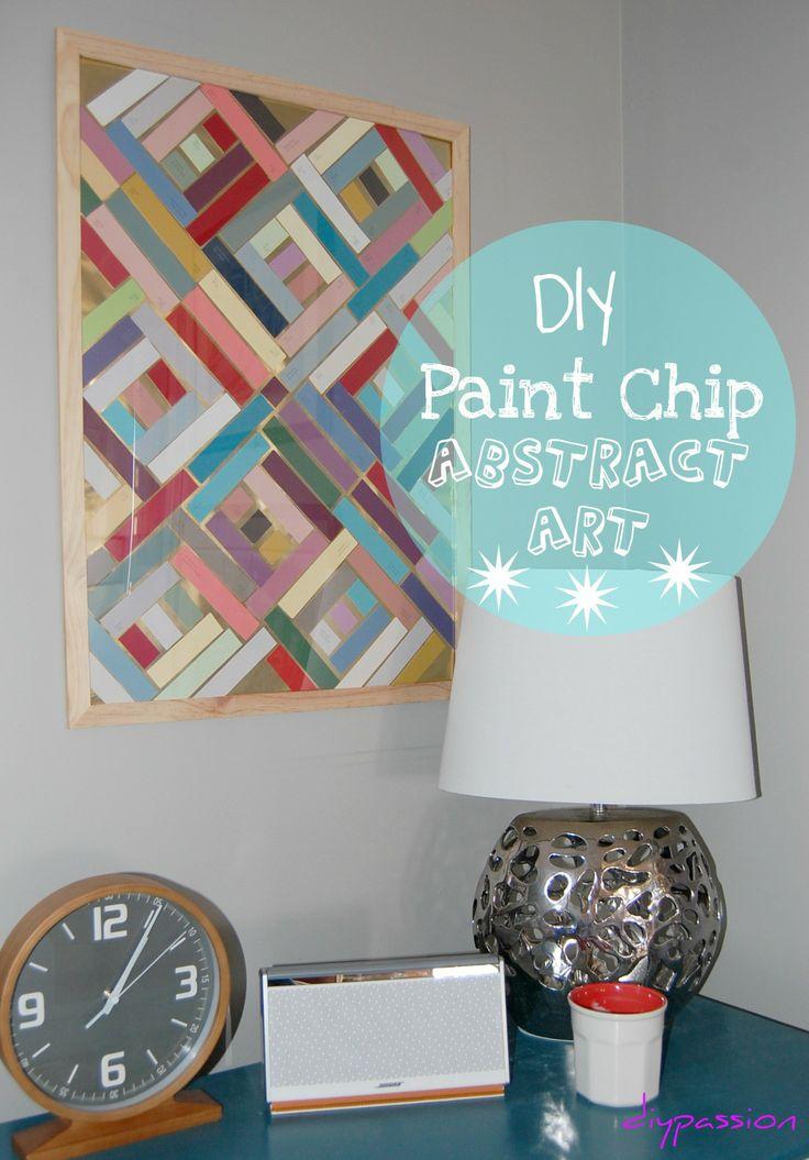 Paint chip art 10 wall art ideas pinterest for Arts and craft paint