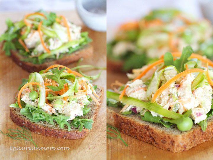 Healthy Chicken Salad Sandwich. You will need: chicken, greek yogurt ...