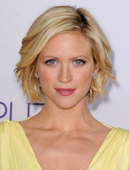 Snow Hairstyle - Short Blonde windblown Bob Hairstyle for 2014