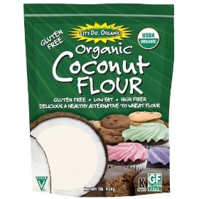coconut flour - awesome added to smoothies for extra fiber!