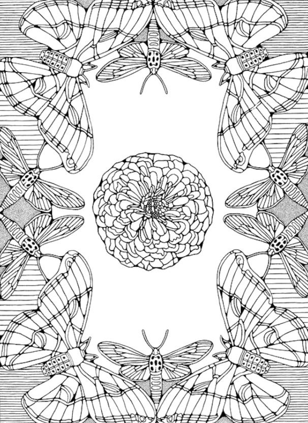 Butterfly Mandala Coloring Pages | Coloring sheets | Pinterest