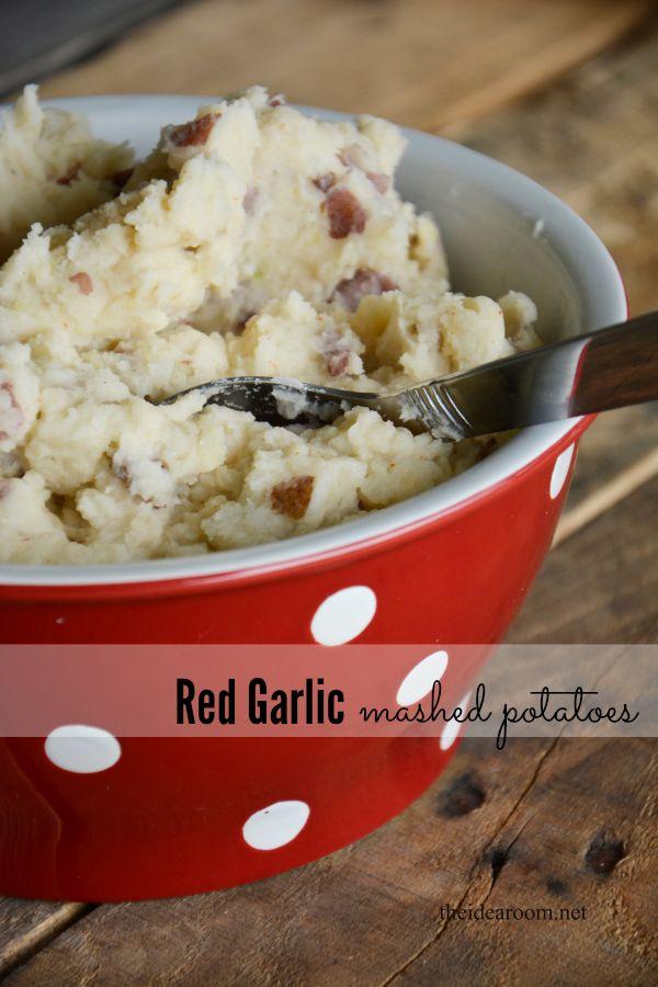 Red Garlic Mashed Potatoes | Favorite Foods | Pinterest