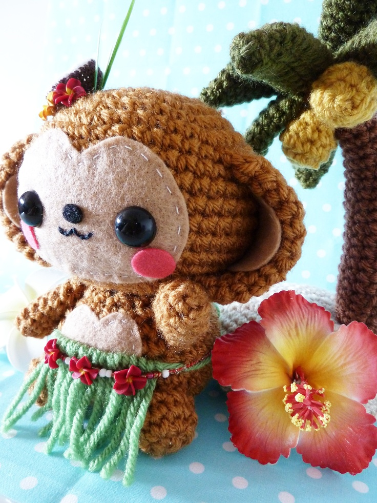 Kawaii Monkey Amigurumi : cute amigurumi monkey crochet/amigurumi Pinterest
