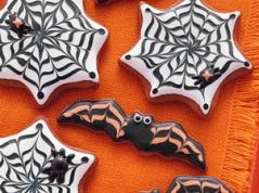 Bat and Cobweb Cookies | Halloween | Pinterest