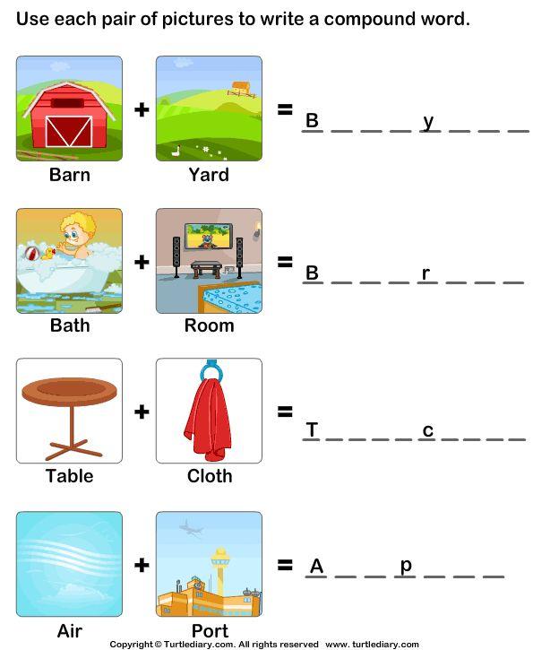 Compound Words Worksheet s | School Stuff | Pinterest