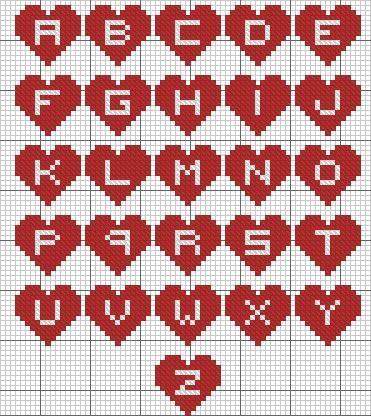 Stitch Patterns ...A Alphabet Design In Heart