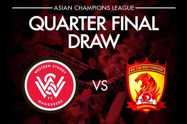 Wanderers draw 2013 champions guangzhou evergrande in the quarter