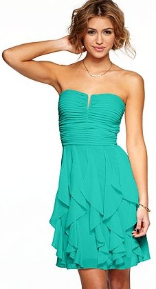 Turquoise ruffles for Friday's Alumnae Crown Chapter Dinner (source: Macy's)