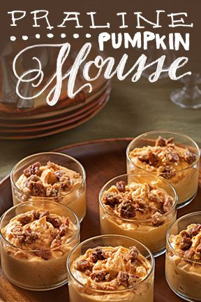 Pumpkin fever is in full swing. Our Praline Pumpkin Mousse could be ...