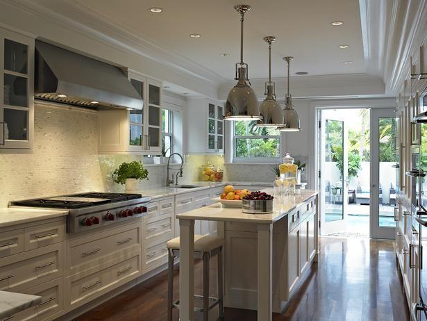 long skinny island kitchens pinterest