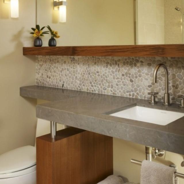 river rock tile backsplash kitchen back splash inspiration