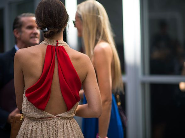 Love the back of this party dress.