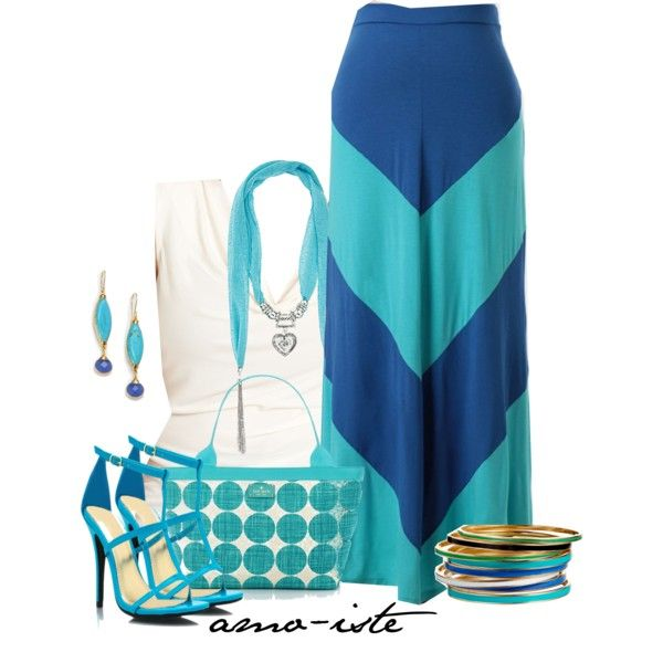 Chevron Maxi - Plus Size, created by amo-iste on Polyvore