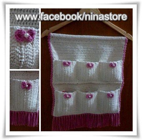 Porta-trecos em crochê | Coisinhas de crochê | Pinterest