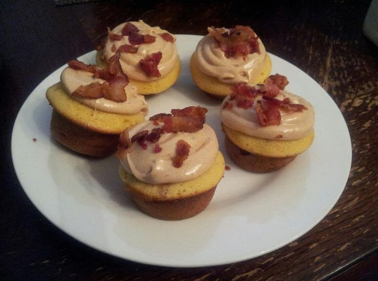 Maple Bacon Cupcakes with Maple Frosting using cake mix.