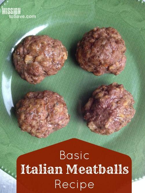 Basic Italian Meatballs Recipe (Perfect Freezer Meal Recipe) - Mission ...