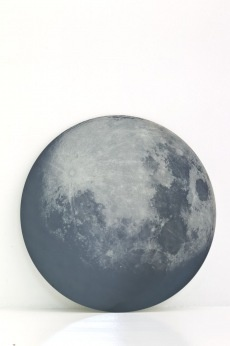 My moon my mirror designed by Diesel for Moroso: Hang your personal piece of the sky on the wall with this mirror imprinted with the image of the moon.