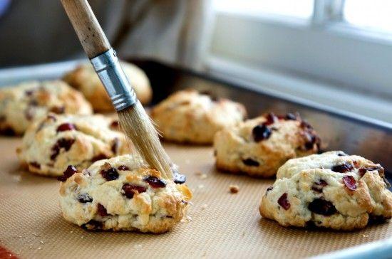 Meyer Lemon And Fresh Cranberry Scones Recipe — Dishmaps
