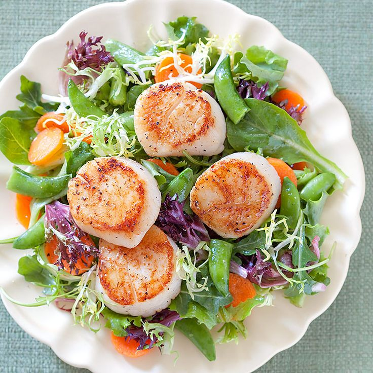 Summer Dinner Salad with Scallops | * What are we gonna eat tonight ...