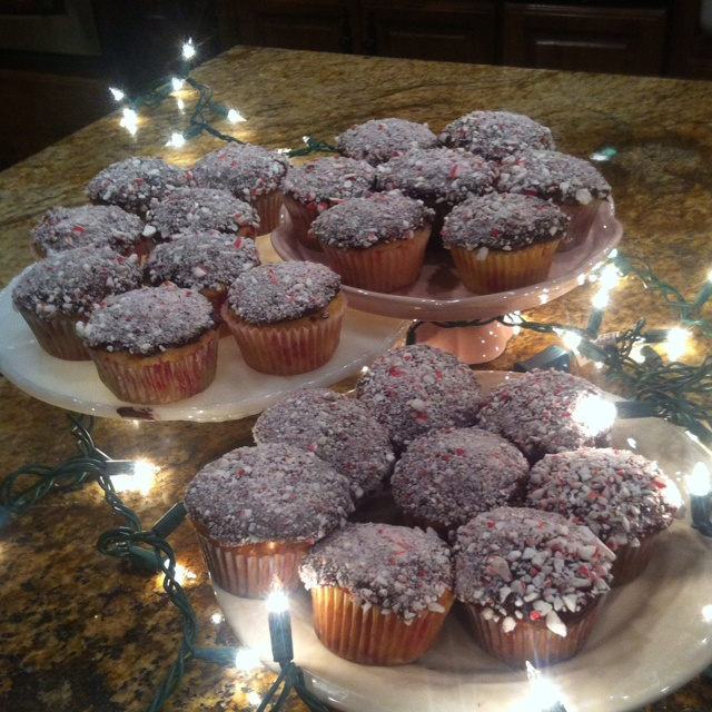 Peppermint cupcakes have been made