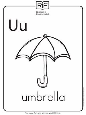 u is for umbrella coloring page  Printable Alphabet Coloring Pa...