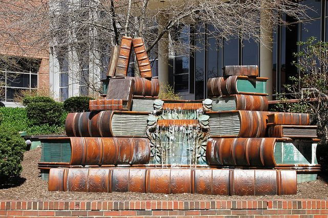 Book Fountain in Cincinnati.