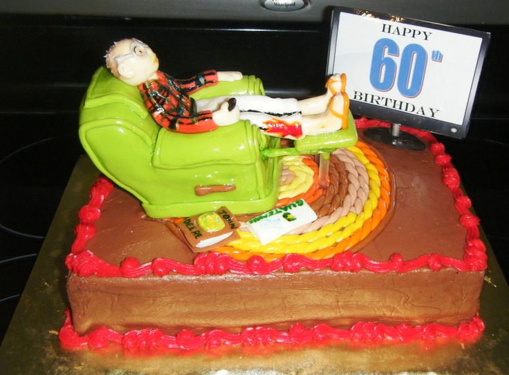 Cake Decoration For Old Man : Old man in Recliner Cake Best Birthday Ever Pinterest