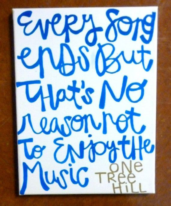 One Tree Hill Quote On Canvas By CountingCanvas On Etsy, $20.00 @lexi .