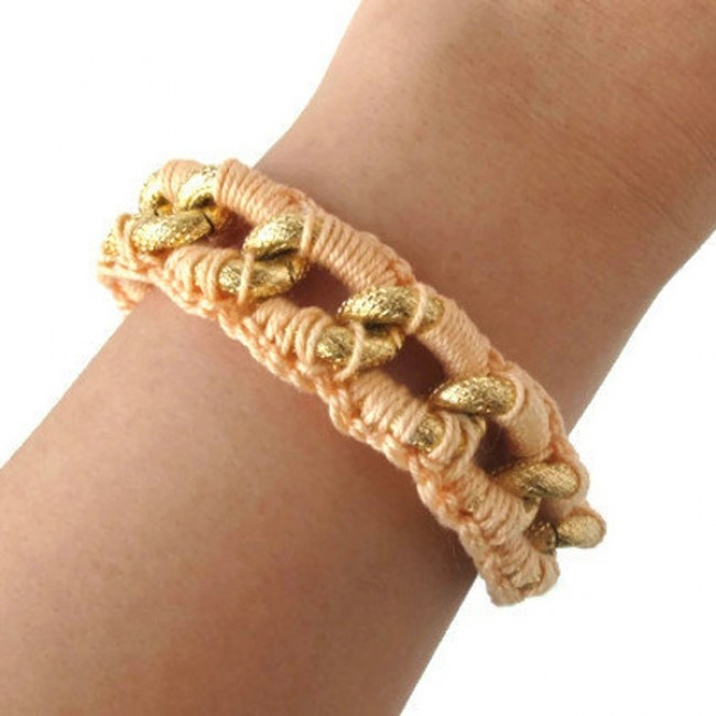 Crochet Chain : Crochet Chain Bracelet Yarn it Pinterest
